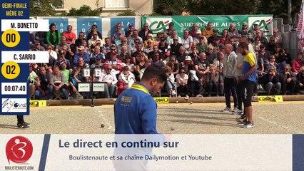 International à pétanque de l'Olivier à Nyons : Demi-finale Bonetto VS Sarrio