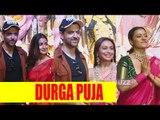 Alia, Hrithik, Rani, and Kajal at Durga Puja