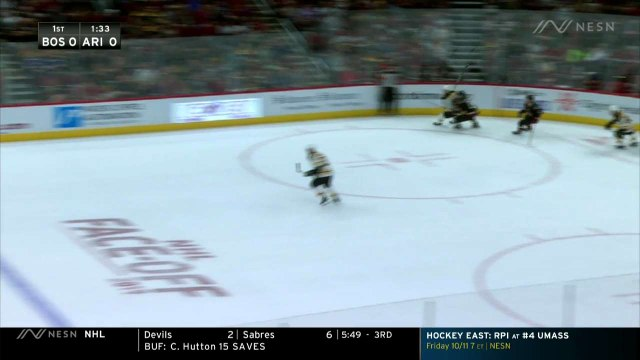 Brad Marchand Finds Seam For First Goal Of Season In Bruins Win Vs. Coyotes