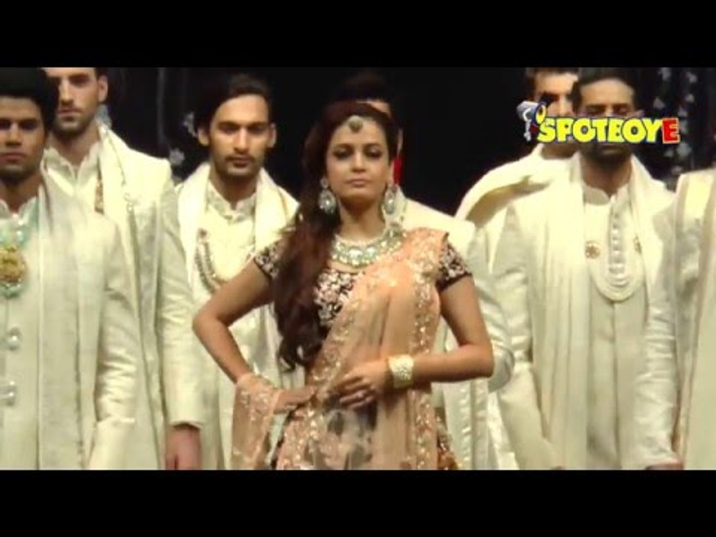 Dia Mirza walks the ramp for Vikram Phadnis for his Bridal Collection | Dia looks stunning