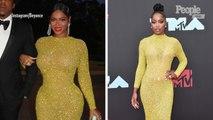 Fashion Favorite! Beyoncé Glitters in Same Golden Gown Keke Palmer Rocked at the VMAs