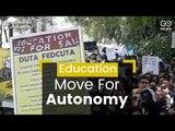 DU Protest Against Autonomy Move