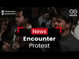 AMU Students Protest Encounters