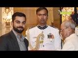 Virat Kohli Receives Padma Shri Award at Rashtrapati Bhavan   SpotboyE