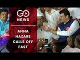 Anna Hazare Fast Ends