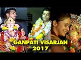 Arjun Bijlani,Sharad Malhotra, Kanchi Singh,Devoleena Bhattacharjee Ganpati Visarjan 2017 | SpotboyE