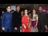 Amitabh Bachchan,Mukesh Ambani,Nita Ambani at Krunal Pandya's Wedding Reception | SpotboyE