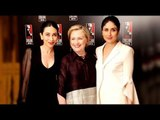 Kareena Kapoor and Karisma Kapoor pose for a picture with Hillary Clinton | SpotboyE