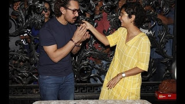 Aamir Khan with Wife Kiran Celebrates his Birthday with the Media   SpotboyE