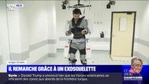 Thibault, tétraplégique, peut remarcher grâce à un exosquelette