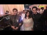 Ekta Kapoor Arrives With Jeetendra And Tusshar Kapoor At Isha Ambani And Anand Piramal's Reception