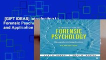 [GIFT IDEAS] Introduction to Forensic Psychology: Research and Application