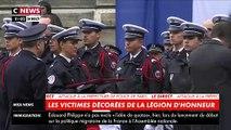 Attaque à la préfecture de police de Paris: Regardez le ministre de l'Intérieur Christophe Castaner remettre la Légion d'honneur, à titre posthume, aux quatre victimes - VIDEO