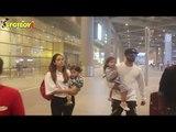 SPOTTED! Shahid Kapoor & Mira Rajput With Kids At The Airport