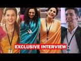 Mission Mangal's Scientists Akshay Kumar, Taapsee Pannu, Kirti Kulhari,Nithya Menen High On The Film