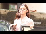 Alia Bhatt Exiting Sanjay Leela Bhansali's Residence Post News Of Inshallah Being Shelved | SpotboyE