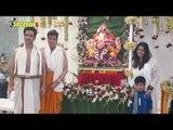 Ekta Kapoor, Tusshar Kapoor,Jeetendra & Neil Nitin Mukesh with his family celebrate Ganesh Chaturthi