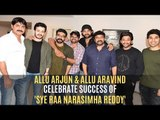 Allu Arjun & Allu Aravind Celebrate The Success Of Chiranjeevi's Sye Raa Narasimha Reddy | SpotboyE