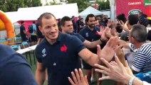 Rugby à XV - Coupe du monde : les Bleus à la rencontre de la population à Kumamoto