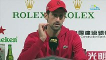 "ATP - Shanghai 2019 - Novak Djokovic : ""Rafael Nadal and me, we have different ways from those of Roger Federer"""