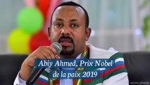 Le premier ministre éthiopien, Abiy Ahmed, Prix Nobel de la paix 2019