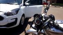 Siate atende acidente entre carro e moto no Bairro Alto Alegre