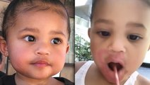 Kylie Jenner Reacts To Stormi Curse Word Confusion & Lipstick MakeOver VIDEO