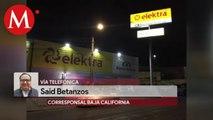 En Tijuana, se disfrazan como custodios y roban sucursal Banco Azteca