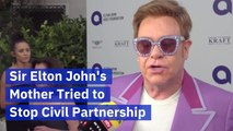 Elton John's Mother And The Civil Partnership With David Furnish