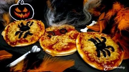 Recette : Mini pizza d'Halloween