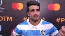 Juan Cruz Mallia wins Player of the Match for Argentina