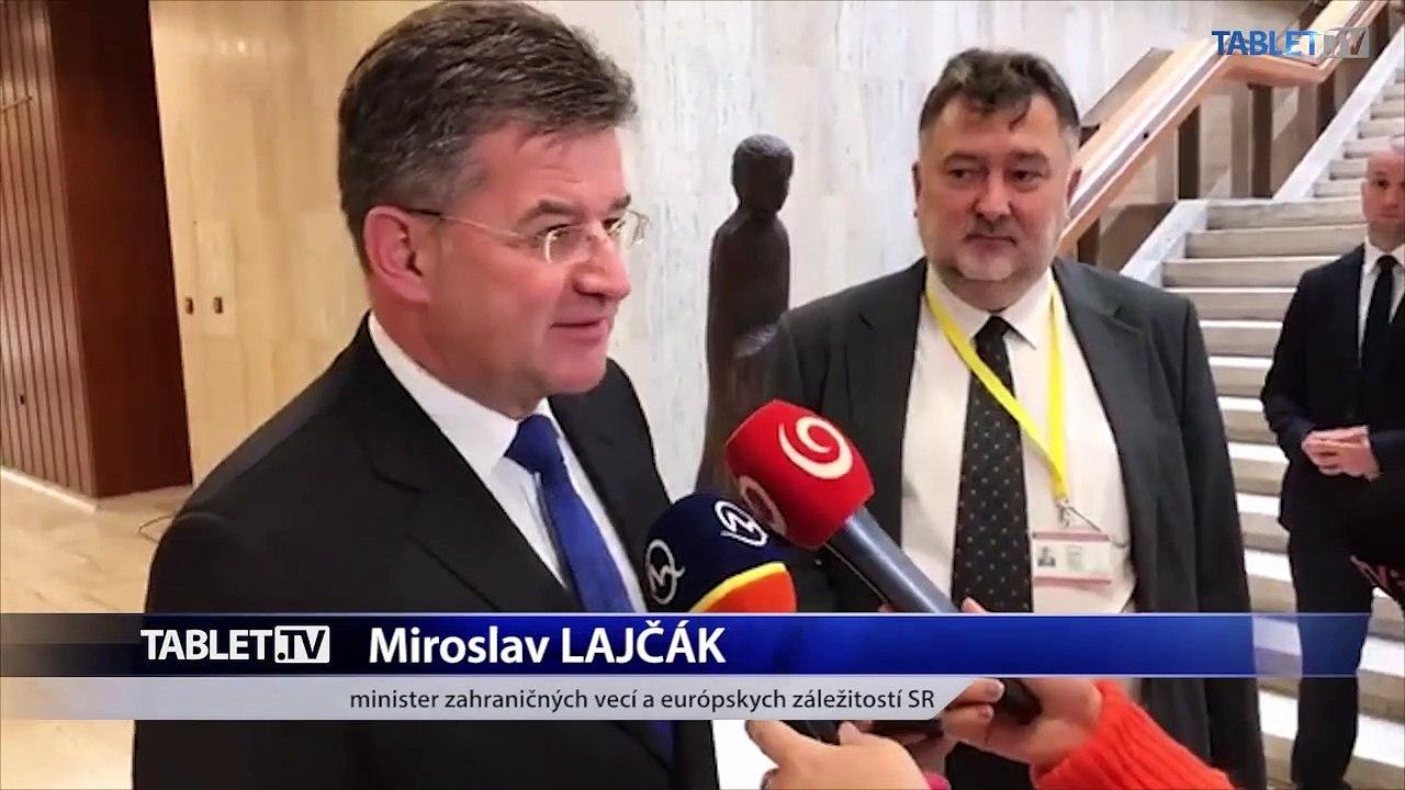ZÁZNAM: Brífing ministra zahraničných vecí M. Lajčáka