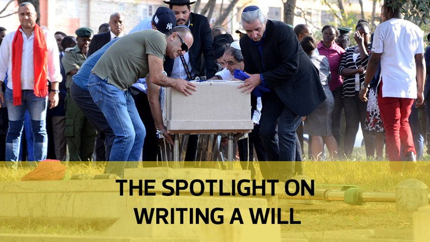 The spotlight on writing a will