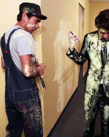 Zach King et la peinture fraîche