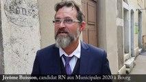 Jérôme Buisson, candidat RN aux Municipales 2020 à Bourg