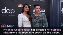 Priyanka Jonas prepped her husband Nick for 'The Voice'
