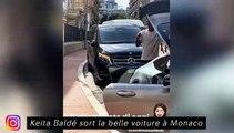 Keita Baldé sort la belle voiture à Monaco