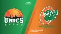 UNICS Kazan - Cedevita Olimpija Ljubljana  Highlights | 7DAYS EuroCup, RS Round 2
