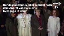 Merkel besucht nach Angriff in Halle Synagoge in Berlin