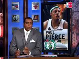 Paul Pierce discusses push-ups, among other things, on the v