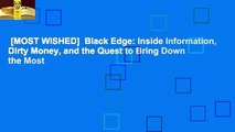 [MOST WISHED]  Black Edge: Inside Information, Dirty Money, and the Quest to Bring Down the Most