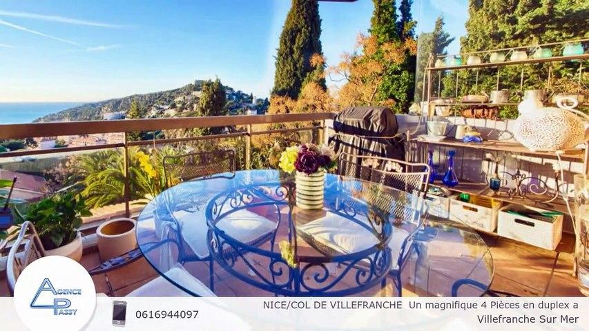 NICE/COL DE VILLEFRANCHE  Un magnifique 4 Pièces en duplex a