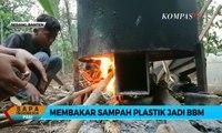 Kreatif! Pemuda Banten Bakar Sampah Plastik Jadi BBM