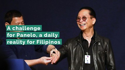 A challenge for Panelo, a daily reality for Filipinos