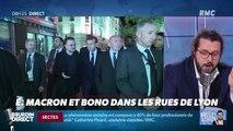 Président Magnien ! : Macron et Bono dans les rues de Lyon - 10/10