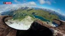 Découvrez les superbes images du massif du Mont-Blanc filmées par un aigle pêcheur muni d'une petite caméra - VIDEO