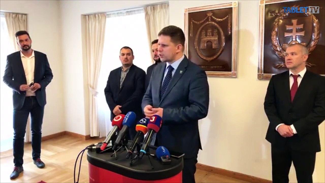 ZÁZNAM: TK primátora Bratislavy Matúša Valla a starostu Petržalky Jána Hrčku