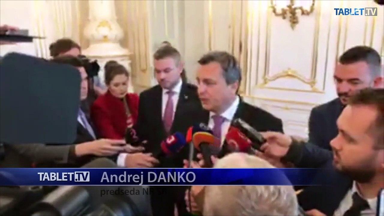 ZÁZNAM: Brífing predsedu NR SR A. Danka a premiéra P. Pellegriniho
