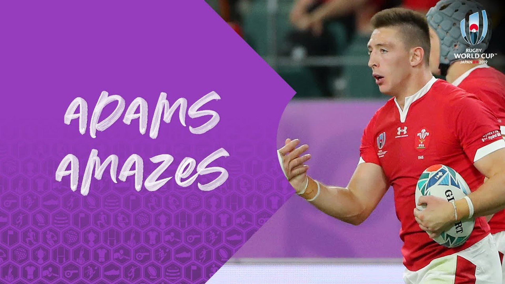 Three incredible tries from Wales Josh Adams at Rugby World Cup 2019