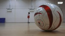 Nine-year-old Londoner Mikey lost eyesight but never lost passion for football